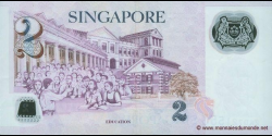 Singapour - p52a - 2 Dollars - 2006 - Monetary Authority of Singapore