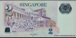 Singapour - p52b - 2 Dollars - 2009 - Monetary Authority of Singapore