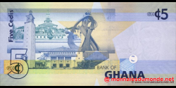 Ghana - p38b - 5 cedis - 06.03.2010 - Bank of Ghana