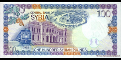 Syrie - p108 - 100 Syrian Pounds - 1998 - Central Bank of Syria
