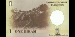Tadjikistan - p10 - 1 Diram - 1999 - Bonki Millii Tochikiston / National Bank of Tajikistan