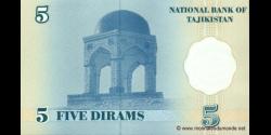Tadjikistan - p11 - 5Dirams - 1999 - Bonki Millii Tochikiston / National Bank of Tajikistan