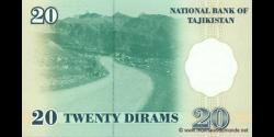 Tadjikistan - p12 - 20Dirams - 1999 - Bonki Millii Tochikiston / National Bank of Tajikistan