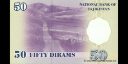 Tadjikistan - p13a - 50Dirams - 1999 - Bonki Millii Tochikiston / National Bank of Tajikistan