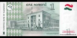 Tadjikistan - p14a - 1 Somoni - 1999 - Bonki Millii Tochikiston / National Bank of Tajikistan