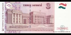 Tadjikistan - p20 - 3Somoni - 2010 - Bonki Millii Tochikiston / National Bank of Tajikistan