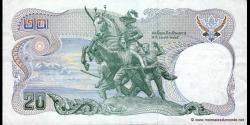 Thaïlande - p088k - 20 Baht - ND (1981) - Bank of Thailand