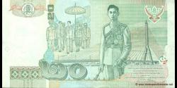 Thaïlande - p109e - 20 Baht - BE 2546 (2003) - Bank of Thailand
