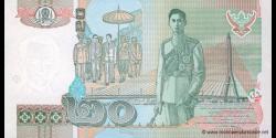 Thaïlande - p109m - 20 Baht - BE 2546 (2003) - Bank of Thailand