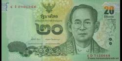 Thaïlande - p118a - 20 Baht - ND (2013) - Bank of Thailand