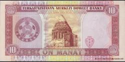 Turkménistan - p03 - 10Manat - ND (1993) - Türkmenistanyň Merkezi Döwlet Banky