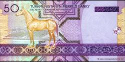 Turkménistan - p17 - 50 Manat - 2005 - Türkmenistanyň Merkezi Banky