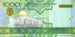 Turkménistan - p20 - 1.000 Manat - 2005 - Türkmenistanyň Merkezi Banky