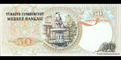 Turquie - p188a - 50Türk Lirası - L. 1970 (1971 - 1982) - Türkiye Cumhuriyet Merkez Bankası