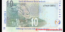afrique du sud - p128b - 10 rand - ND (2009) - South African Reserve Bank / Suid - Afrikaanse Reserwebank / liBhangi lesiLulu l