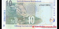 afrique du sud - p128b - 10 rand - ND (2009) - South African Reserve Bank / Suid - Afrikaanse Reserwebank / liBhangi lesiLulu l