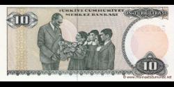 Turquie - p193b - 10Türk Lirası - L. 1970 (1984 - 2002) - Türkiye Cumhuriyet Merkez Bankası