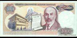 Turquie - p194b - 100Türk Lirası - L. 1970 (1984 - 2002) - Türkiye Cumhuriyet Merkez Bankası