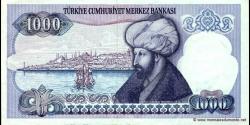 Turquie - p196b - 1.000Türk Lirası - L. 1970 (1984 - 2002) - Türkiye Cumhuriyet Merkez Bankası