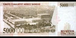 Turquie - p210a - 5.000.000Türk Lirası - L. 1970 / 10.1997 - Türkiye Cumhuriyet Merkez Bankası