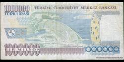 Turquie - p213a - 1.000.000Türk Lirası - L. 1970 (1984 - 2002) - Türkiye Cumhuriyet Merkez Bankası