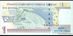 Turquie - p216 - 1 Yeni Türk Lirası - L. 1970 / 2005 - Türkiye Cumhuriyet Merkez Bankası
