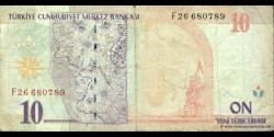 Turquie - p218 - 10Yeni Türk Lirası - L. 1970 / 2005 - Türkiye Cumhuriyet Merkez Bankası