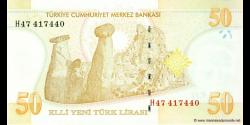 Turquie - p220 - 50Yeni Türk Lirası - L. 1970 / 2005 - Türkiye Cumhuriyet Merkez Bankası