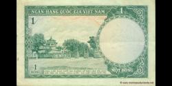 Viêt Nam Sud - p01 - 1Ðồng - ND (1956) - Ngân-Hàng Quốc-Gia Việt-Nam
