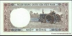 Viêt Nam Sud - p15 - 1Ðồng - ND (1964) - Ngân-Hàng Quốc-Gia Việt-Nam