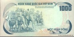 Viêt Nam Sud - p34 - 1.000 Ðồng - ND (1972) - Ngân-Hàng Quốc-Gia Việt-Nam