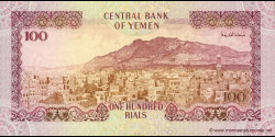 Yémen - p28a - 100 Rials - ND (1993) - Central Bank of Yemen