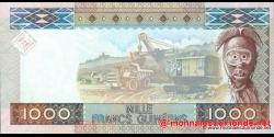 Guinée - p43 - 1 000 francs - 01.03.2010 - Banque Centrale de la République de Guinée
