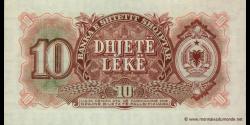 Albanie - p28a - 10 Lekë - 1957 - Banka e Shtetit Shqiptar