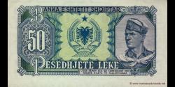Albanie - p29a - 50 Lekë - 1957 - Banka e Shtetit Shqiptar