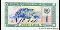 Albanie - p40 - 1 Lek - 1976 - Banka e Shtetit Shqiptar