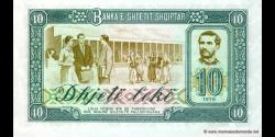 Albanie - p43 - 10Lekë - 1976 - Banka e Shtetit Shqiptar