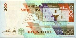 Albanie - p67 - 200Lekë - 2001 - Banka e Shqiperise