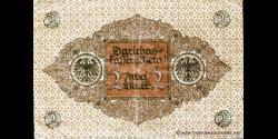 Allemagne - p060 - 2Mark - 01.03.1920 - Reichsschuldenverwaltung