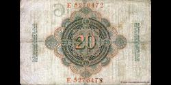 Allemagne - p040b - 20Mark - 21.04.1910 - Reichsbank