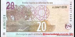 afrique du sud - p129a - 20 rand - ND (2005) - South African Reserve Bank / Banka - kgolo ya Aforika Borwa / IBulungelo - mali