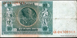 Allemagne - p180a - 10Reichsmark - 22.01.1929 - Reichsbank