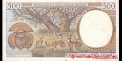 guinée équatoriale - p501Nd - 500 francs - 1997 - Banque des États de l'Afrique Centrale