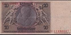 Allemagne - p181a - 20Reichsmark - 22.01.1929 - Reichsbank