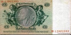 Allemagne - p182a - 50Reichsmark - 30.03.1933 - Reichsbank