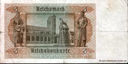 Allemagne - p186a - 5Reichsmark - 01.08.1942 - Reichsbank