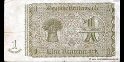 Allemagne - p173b - 1 Rentenmark - 30.01.1937 - Deutsche Rentenbank