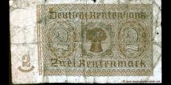 Allemagne - p174b - 2Rentenmark - 30.01.1937 - Deutsche Rentenbank