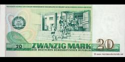 République - Démocratique - Allemagne - p29a - 20 Mark der DDR - 1975 - Staatsbank der DDR