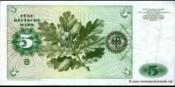 République - Fédérale - Allemagne - p30b - 5 Deutsche Mark - 02.01.1980 - Deutsche Bundesbank